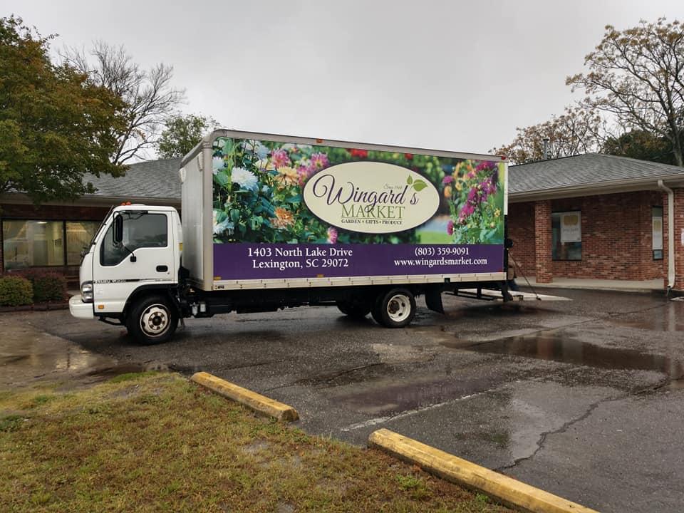 Wingard's Market Box Truck Wrap